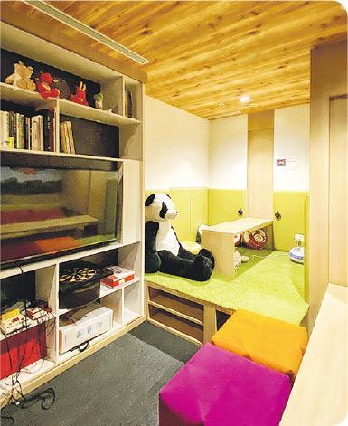 Our Space——較大的「Our Space」房間可辦小組活動或一起談天,讓員工減壓。(受訪者提供)