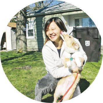 自得其樂——在美國讀碩士和博士課程時,Winnie身處愛荷華州,冬日天寒地凍,夏日也不像香港生活熱鬧,過着平靜的讀書生活。(受訪者提供)