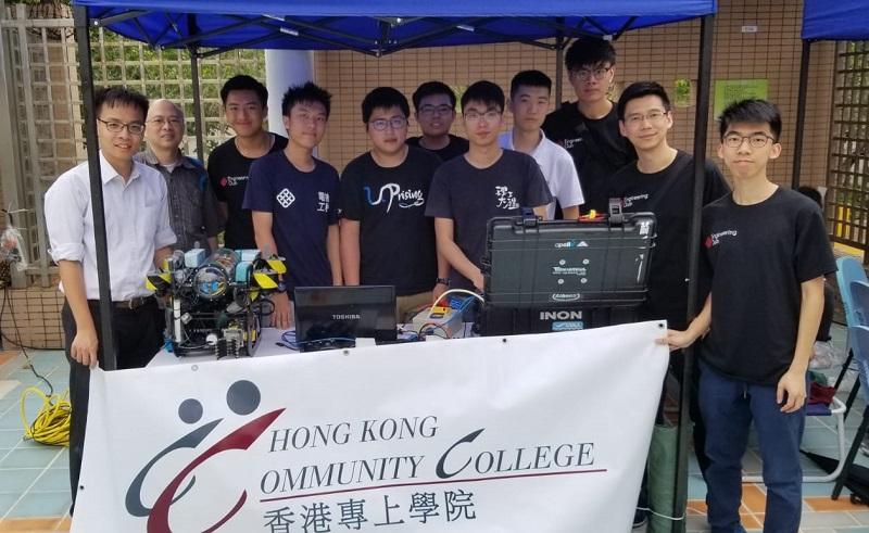 同學藉參加不同的比賽累積經驗。圖為同學參加 2019 年水底機械人大賽 (香港區)。