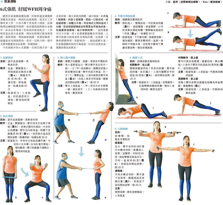 6式強肌 紓緩WFH周身痛