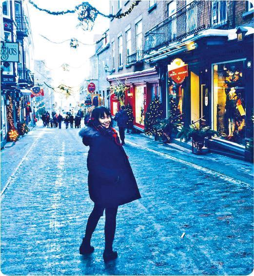 心願達成——Liz Chan往多倫多工作假期後成功移民到當地。(受訪者提供)