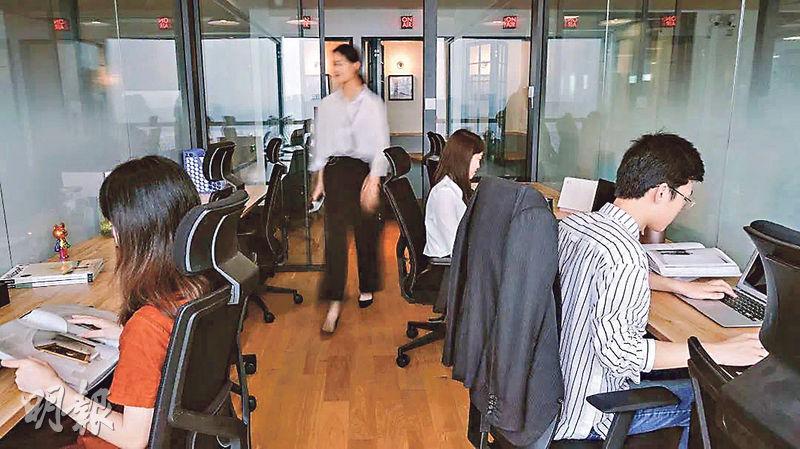 Wiva指創新創業基地可協助處理瑣碎事情如公司註冊。圖為TIMETABLE精品聯合辦公空間。