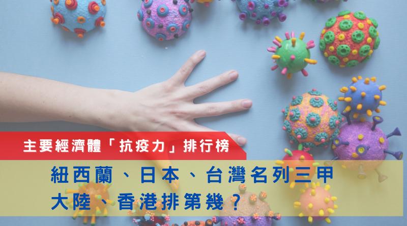 主要經濟體「抗疫力」排行榜丨紐西蘭、日本、台灣名列三甲 大陸、香港排第幾?