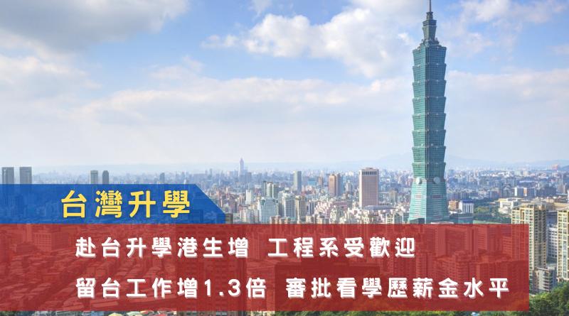 台灣升學丨赴台升學港生增 工程系受歡迎 留台工作增1.3倍 審批看學歷薪金水平