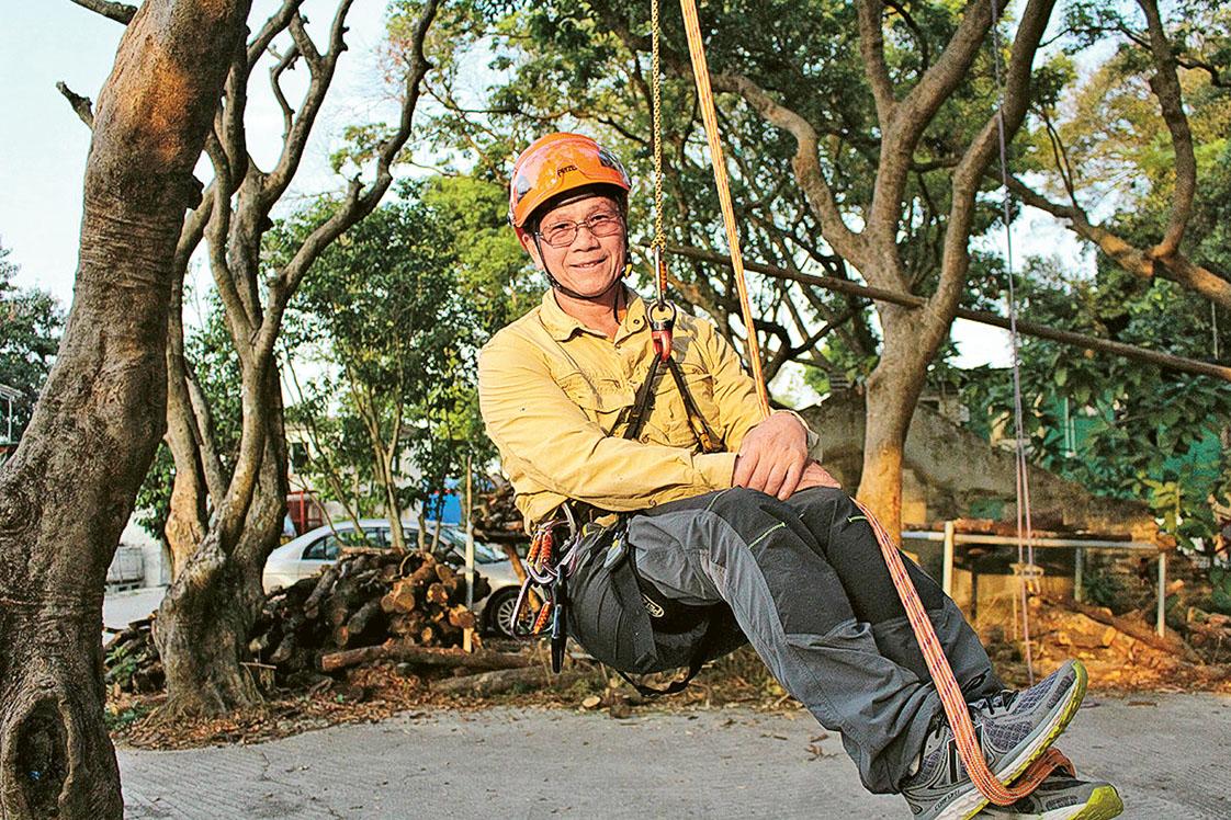 香港樹木學會 (TCHK) 會長兼攀樹總教練李國文 (Man Sir)