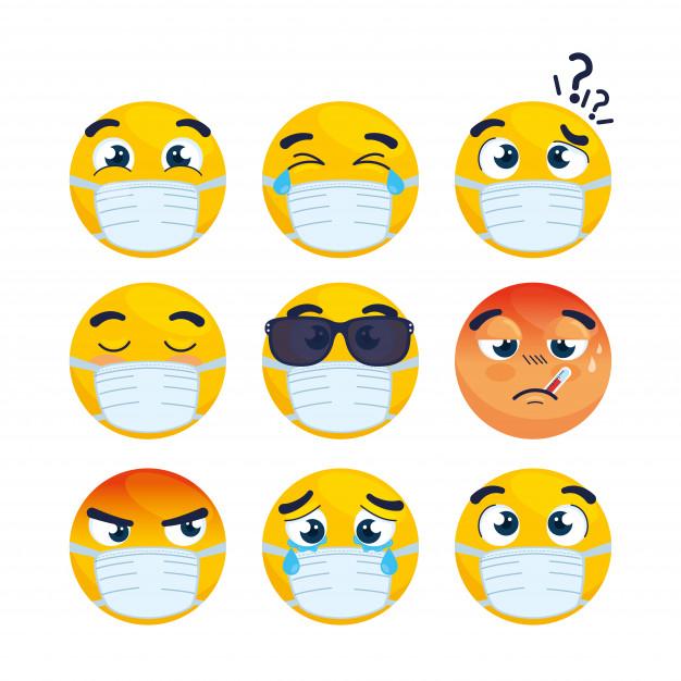 即使戴上口罩,打工仔仍然可以從「眉頭眼額」看對方端倪。
