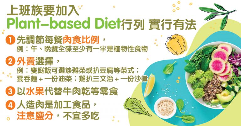 植物性飲食Plant-based Diet即棄肉轉素?上班族實行3個建議