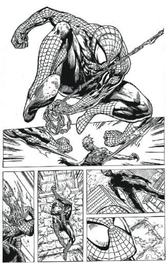 刁鑽甫士——勾勒蜘蛛俠刁鑽的甫士並不簡單,加上要悉心繪畫其緊身戰衣的格紋,需花上3、4天時間。(受訪者提供)