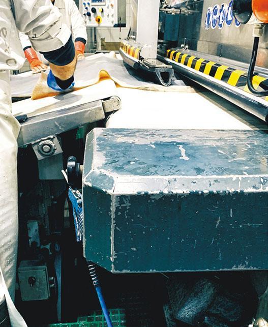 肉製品以外,Romie 18有不少部位已完成加工過程,如皮革。(Adelaide Lala Tam攝)
