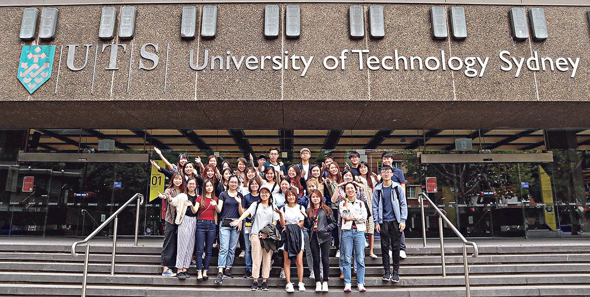 同學到澳洲的大學 進行交流活動。