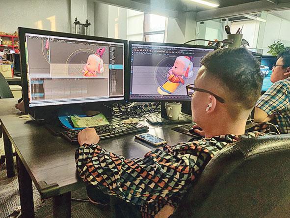香港和內地公司各有分工,深圳約 40人主要負責設計和製作動畫。