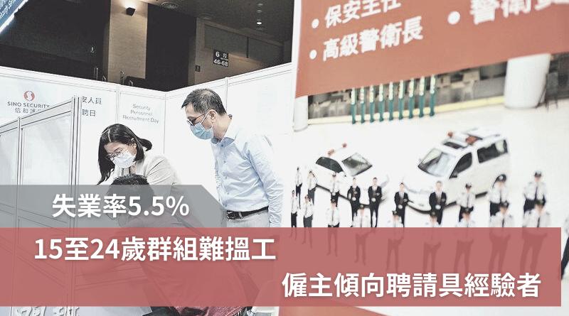 失業率5.5% 15至24歲群組難搵工 僱主傾向聘請具經驗者
