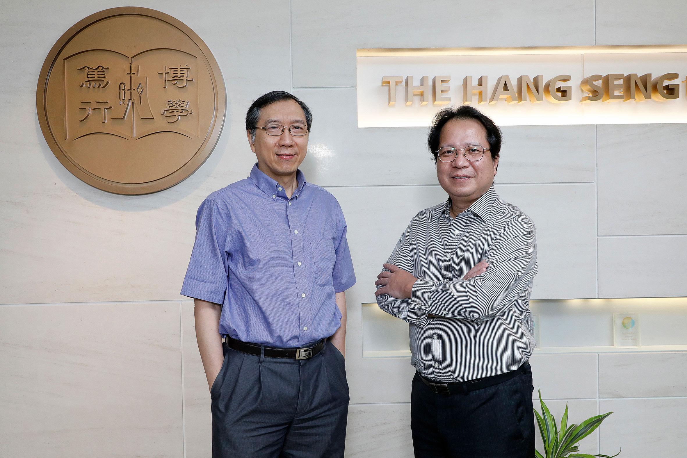 左起:恒大市場學系系主任及副教授陳克先博士、恒大市場學系副系主任池耀輝