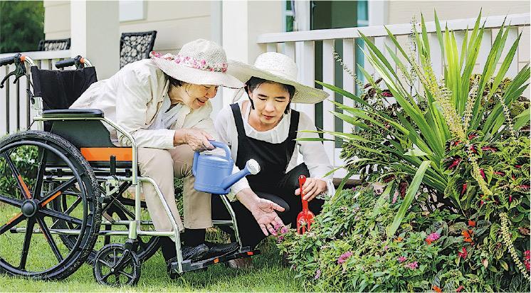滿足感——園藝治療讓長者親自照料植物,見證它們茁壯成長的過程,享受擔任照顧者的滿足感。(Toa55@iStockphoto,設計圖片)