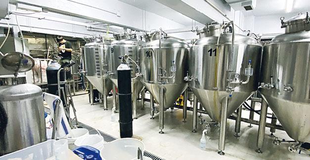 這是為Breer代工的手工啤酒廠內的部分設施,在本地的眾多手工啤酒廠當中,該廠屬於較具規模者。