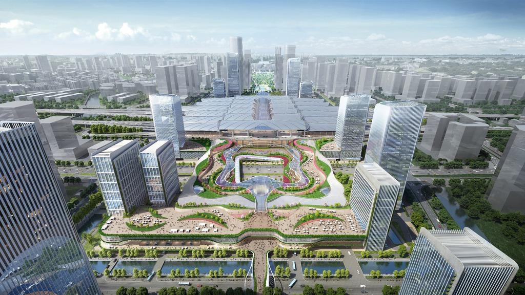 新地計劃將廣州南站項目,打造成另一個地標性的交通樞紐綜合項目。