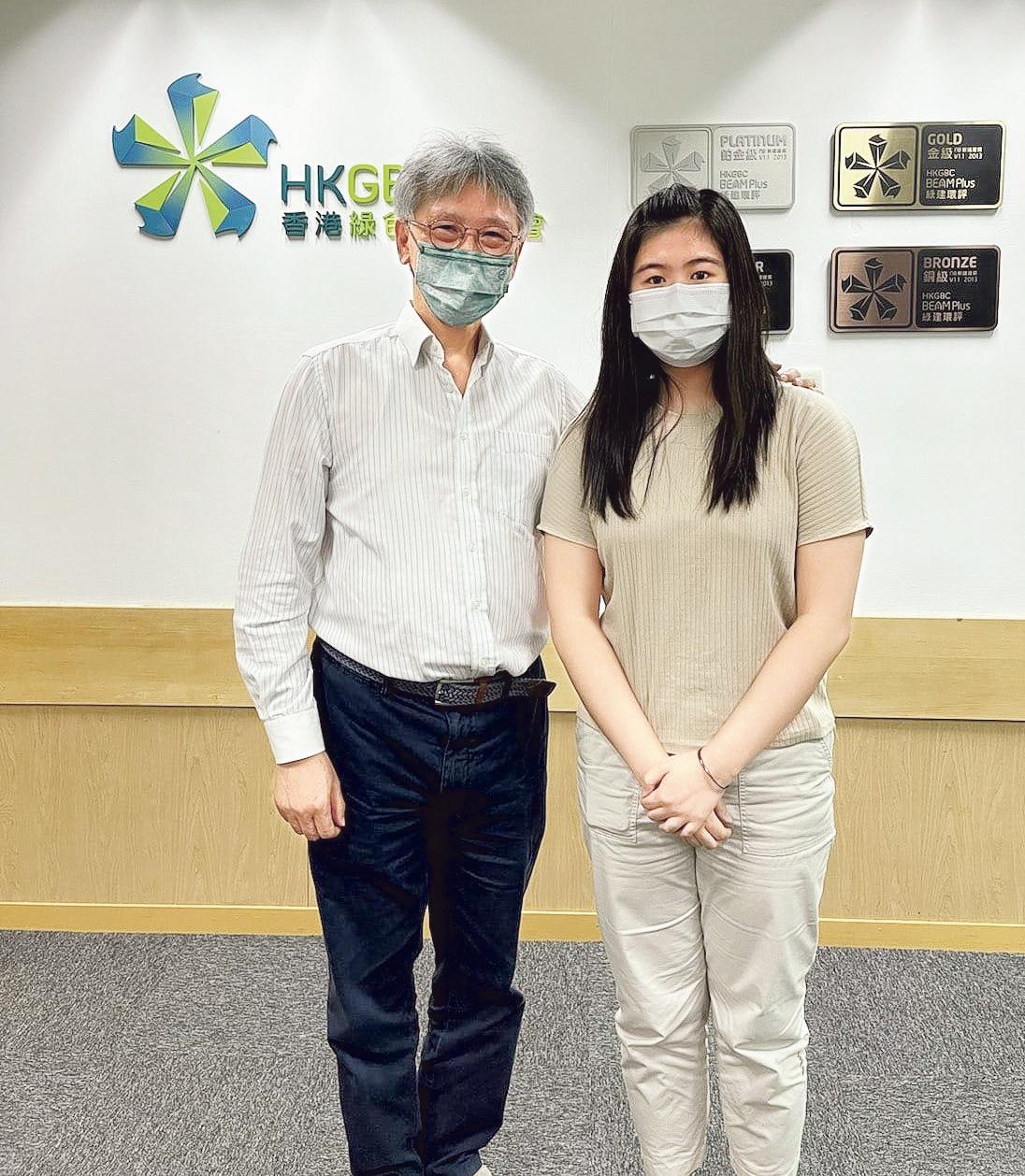 Venus與香港綠色建築議會執行董事陳永康博士合照。